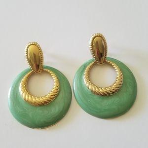 Vintahe Enameled Metal Post Earrings